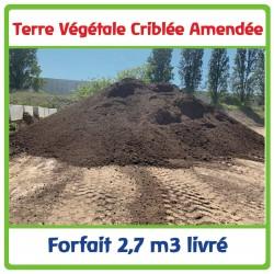 Terre végétale criblée amendée compost vert