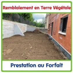 Remblaiement en terre végétale